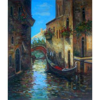 Obraz - Ulička Benátek s Gondolou