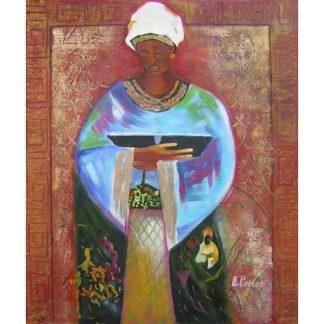 Obraz - žena s miskou