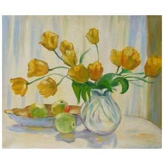 Obraz - Uvadlé žluté květy