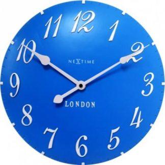 Designové nástěnné hodiny 3084bl Nextime v aglickém retro stylu 35cm