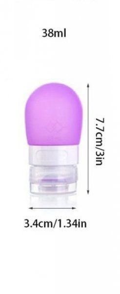 Cestovní silikonová lahvička na tekutiny - Fialová - 38 ml