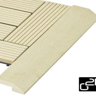 G21 Cumaru Přechodová lišta pro WPC dlaždice 38,5x7,5 cm rohová