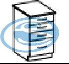 Chamonix dolní zásuvková skříňka 40D - FALCO