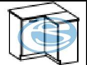 Chamonix dolní rohová skříňka 90DN - FALCO