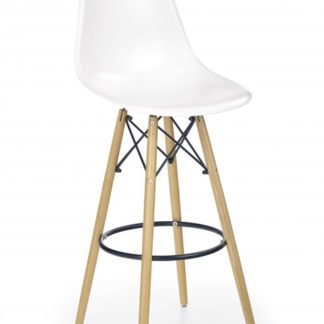 Halmar Barová židle H-51, bílá - HALMAR