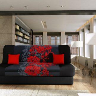 Rozkládací pohovka JAS s červenými květy - FALCO