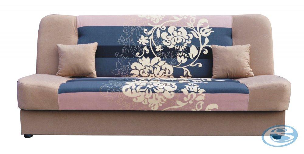 Rozkládací pohovka JAS s hnědými květy - FALCO