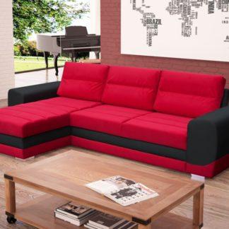 Rohová sedací souprava Kiri červená s tmavě šedou - FALCO