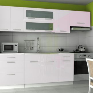 Kuchyňská linka Emilia 180/240 bílá vysoký lesk - FALCO
