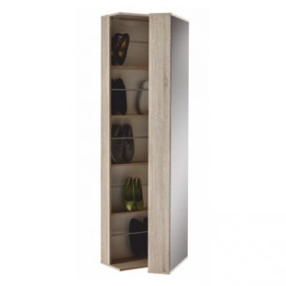 Botníková skříň 251811, dub sonoma + zrcadlo, BALERINO - TempoKondela