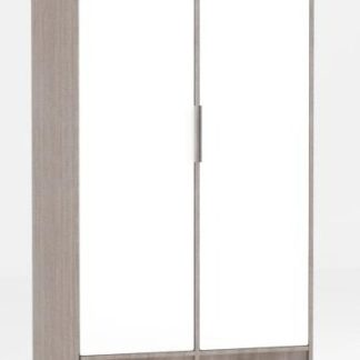Skříň Fado 9 2D roble/bílý lesk - FALCO