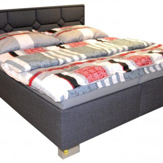 Luxusní postel Doris deLuxe 180x200 šedá - PROKOND