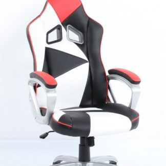 Kancelářské křeslo Lotus černo-bílo-červené - HALMAR