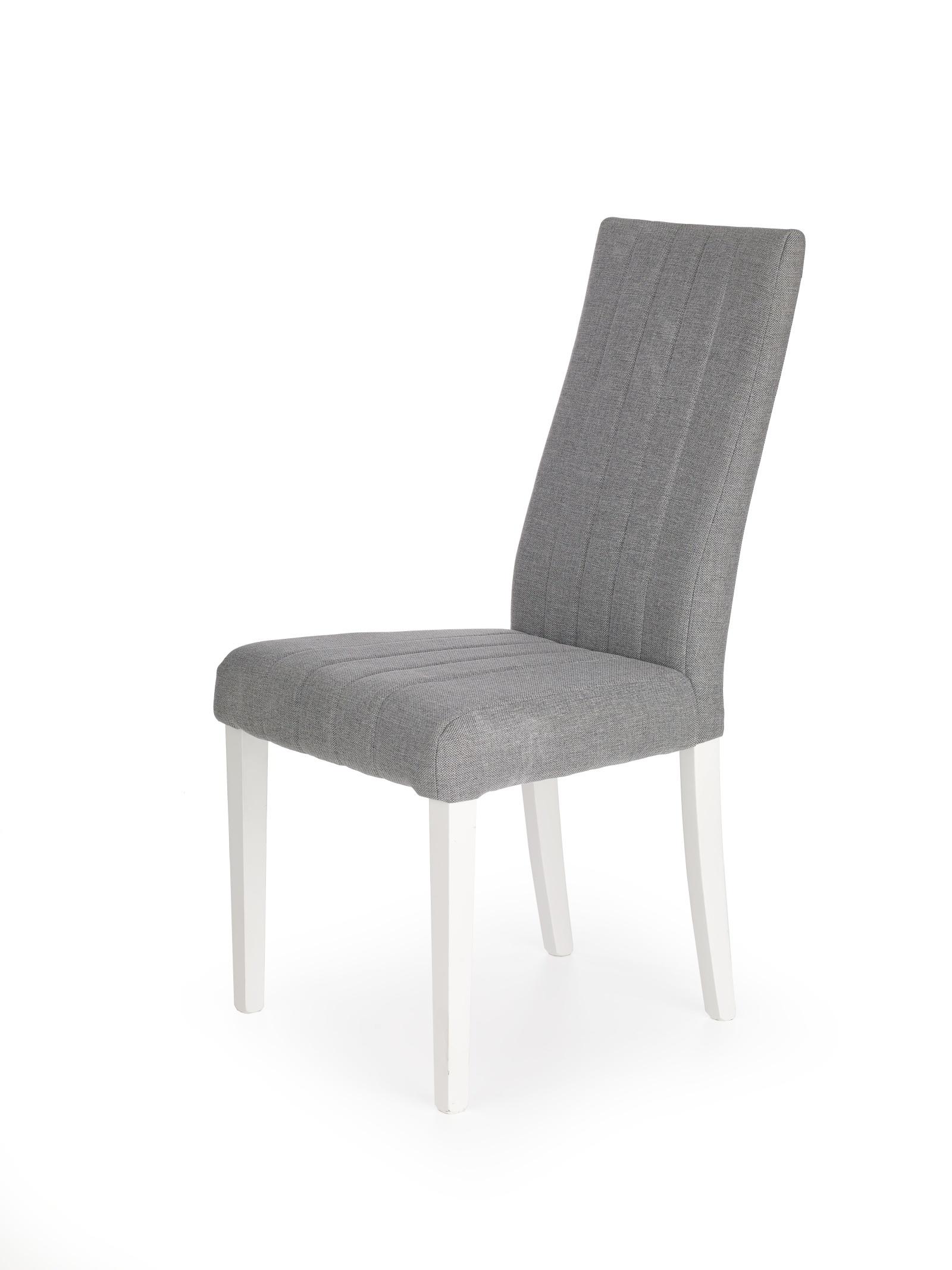 Jídelní židle DIEGO, bílá/světle šedá