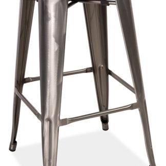 Barová židle z kartáčované oceli KN740