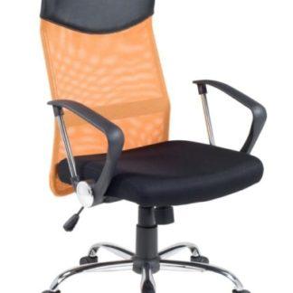 Kancelářské křeslo VIRE, černá/oranžová