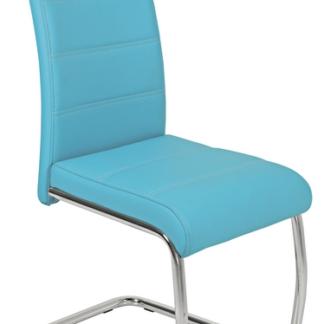 Jídelní židle Flora, petrolejovo-modrá ekokůže