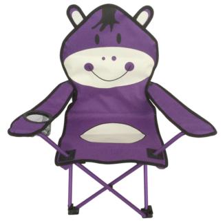 Dětské křeslo Hroch, fialovo-bílé