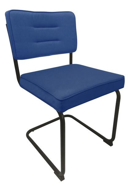 Jídelní židle Salamon, modrá látka