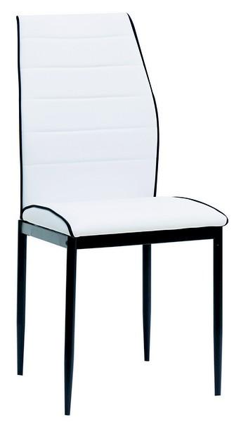 Jídelní židle Round, bílá ekokůže
