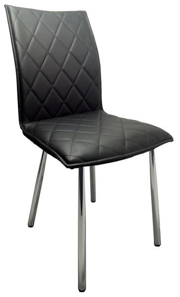 Jídelní židle Irina, černá ekokůže