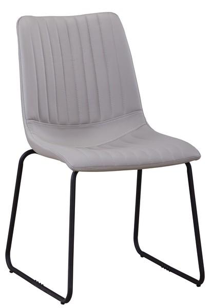 Jídelní židle Elis, světle šedá ekokůže