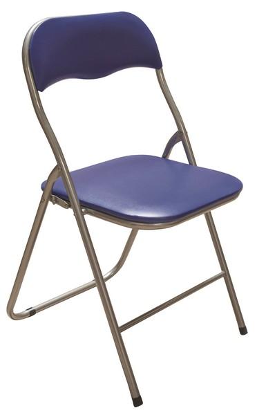 Skládací židle Foldus, modrá ekokůže