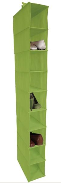 Závěsný regál Cover (9 přihrádek), zelený