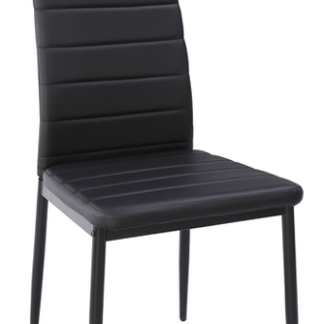 Jídelní židle Zita, černá ekokůže