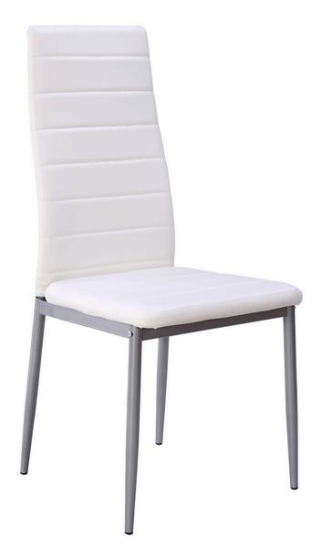 Jídelní židle Zita, bílá ekokůže
