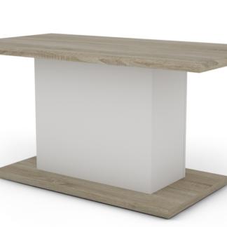 Konferenční stolek Paulo Mini, dub sonoma/bílý