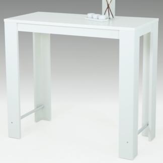 Barový stůl Frieda 120x58 cm, bílý