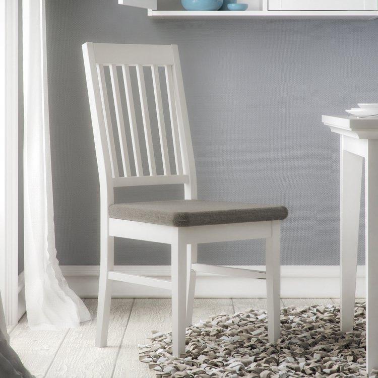 Jídelní židle Paris 90306 bílá/šedá 2ks - TVI