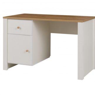 Psací stůl Berg 1D1S dub zlatý/crem - JUREK