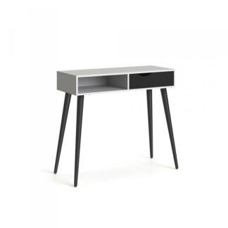 Retro psací stůl Oslo 75388 bílá/černý mat - TVI