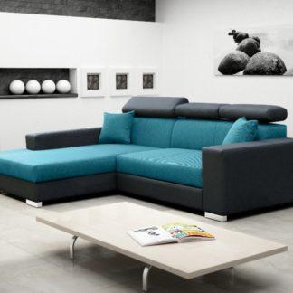 Rohová sedací souprava Mexico de Lux modro-černá - FALCO