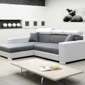 Rohová sedací souprava Mexico de Lux šedo-bílá - FALCO