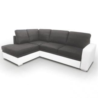 Rohová sedací souprava Waran bíločerná levá - TempoKondela