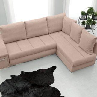 Rohová sedací souprava Arni s barem růžová - FALCO
