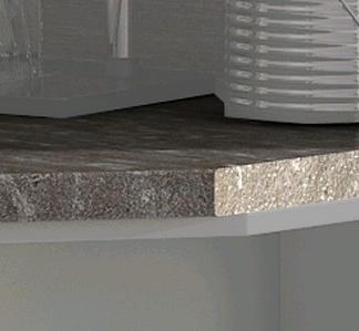 Kuchyňská pracovní deska pro regál APL 30 cm, pravá