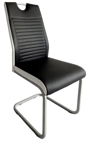 Jídelní židle Rindul, černá/bílá ekokůže