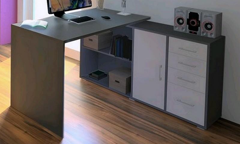 Rohový psací stůl Lift AS69