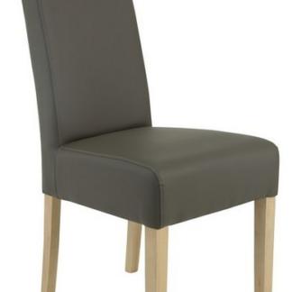 Jídelní židle Pauline, šedá ekokůže