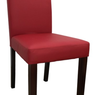Jídelní židle Rudy, červená ekokůže