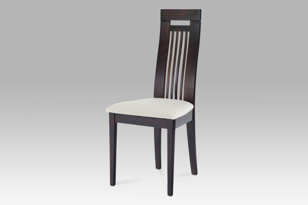Jídelní židle BEZ SEDÁKU masiv buk, moření wenge BC-22412 BK Autronic