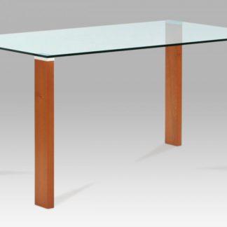 Jídelní stůl 150x90 cm, barva třešeň / sklo BT-6750 TR2 Autronic