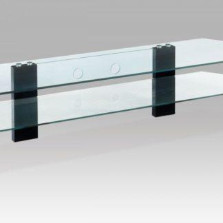 TV stolek černé nohy / čiré sklo ATV-019 BK Autronic