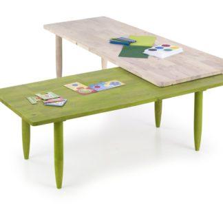Konferenční stolek BORA BORA práškově bílá / zelená Halmar