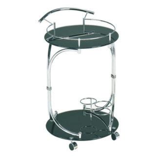 Servírovací stolek VESNA černá / chrom Tempo Kondela