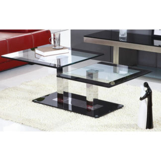 Konferenční stolek GABRIEL ocel/sklo Tempo Kondela